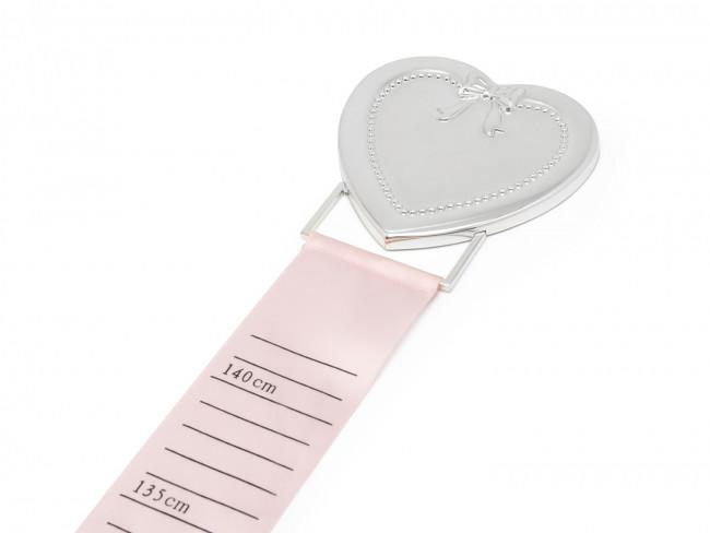 Messband pink & blau Herz silbrig