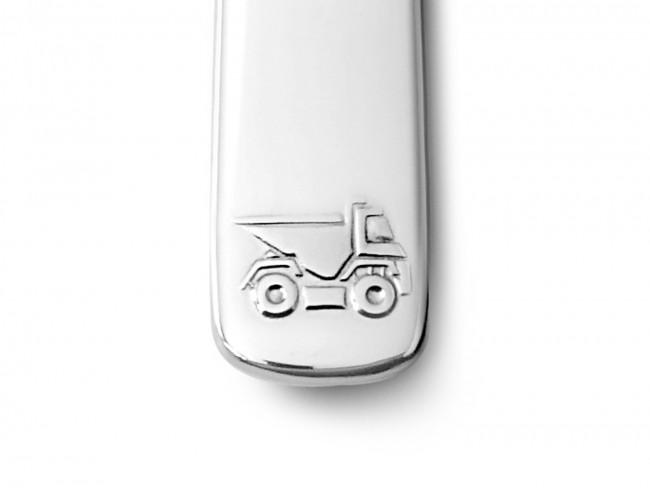 Kinderbesteck 4tlg Baufahrzeuge Edelstahl