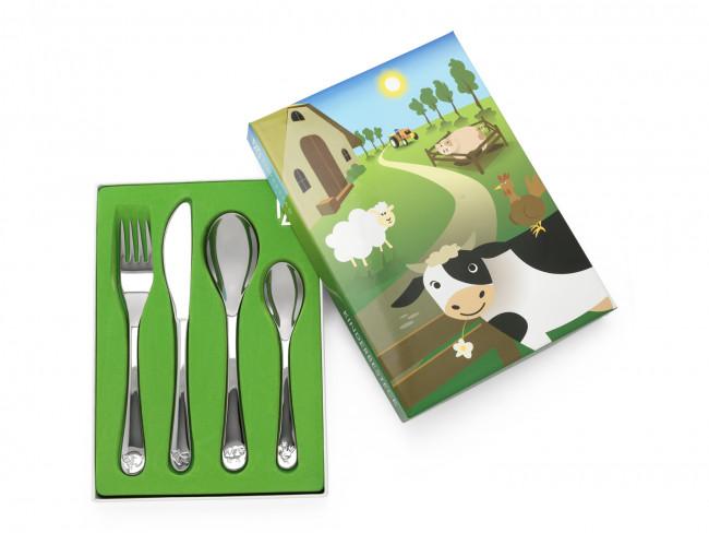 Kinderbesteck 4tlg Bauernhoftiere Edelst.