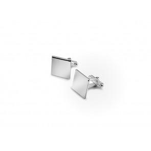 Manschettenknöpfe quadratisch, glatt, Paar 925er Silber