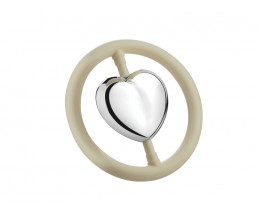 Rassel Herz, im Ring B90 (schwer versilbert)