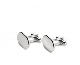 Manschettenknöpfe oval, 925er Silber