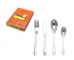 Kinderbesteck Miffy Fahrzeuge, 4-teilig, Edelstahl