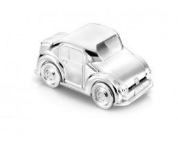 Spardose Auto, versilbert anlaufgeschützt
