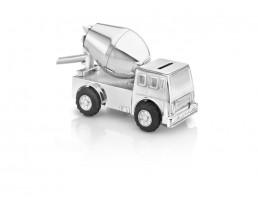 Spardose Betonmischfahrzeug, versilbert anlaufgeschützt