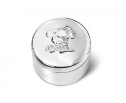 Zahn-/Haarlockdose Snoopy, versilbert anlaufgeschützt