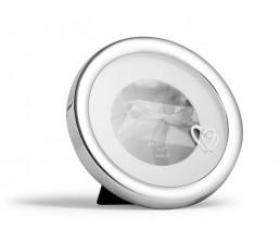 Fotorahmen Doppelherz Steinchen, versilbert anlaufgeschützt