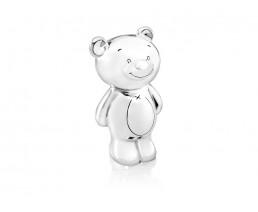 Spardose Bär Twinkle, versilbert anlaufgeschützt