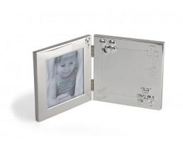 Fotorahmen Happy Baby 9x9 cm, versilbert anlaufgeschützt