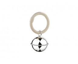 Rassel Ball, perlrand, am Ring (925er Silber)