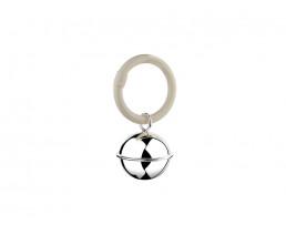 Rassel Ball, Fadenrand, am Ring (925er Silber)