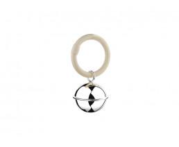 Rassel Ball, Fadenrand, am Ring (B90 schwer versilbert)